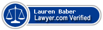 Lauren Baber  Lawyer Badge