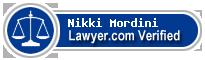 Nikki Miras Mordini  Lawyer Badge