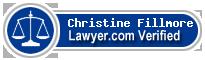 Christine Fillmore  Lawyer Badge