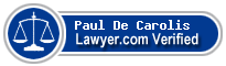 Paul M. De Carolis  Lawyer Badge