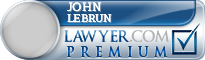 John P. Lebrun  Lawyer Badge