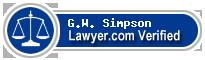 G.W. Skip Simpson  Lawyer Badge