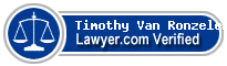 Timothy W. Van Ronzelen  Lawyer Badge