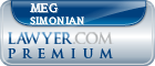 Meg Simonian  Lawyer Badge