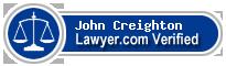 John Creighton  Lawyer Badge