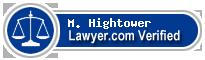 M. Monty Hightower  Lawyer Badge