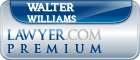 Walter E. Williams  Lawyer Badge