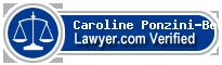 Caroline J. Ponzini-Beck  Lawyer Badge