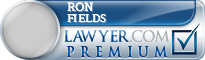 Ron Fields  Lawyer Badge
