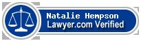 Natalie Hempson  Lawyer Badge