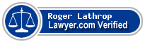 Roger A. Lathrop  Lawyer Badge