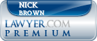 Nick Brown  Lawyer Badge