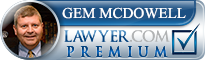 Gem McDowell  Lawyer Badge