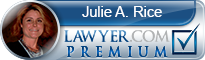Julie A. Rice  Lawyer Badge