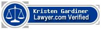 Kristen Gardiner  Lawyer Badge