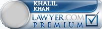 Khalil Khan  Lawyer Badge