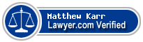 Matthew Karr  Lawyer Badge