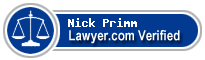 Nick Primm  Lawyer Badge