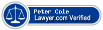 Peter Cole  Lawyer Badge