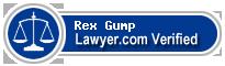 Rex V. Gump  Lawyer Badge