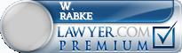 W. Wilhelm Rabke  Lawyer Badge