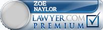 Zoe E Naylor  Lawyer Badge