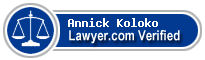 Annick T Koloko  Lawyer Badge