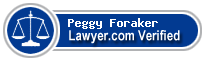 Peggy Foraker  Lawyer Badge
