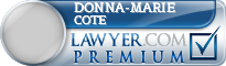 Donna-Marie Cote  Lawyer Badge