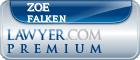 Zoe Falken  Lawyer Badge