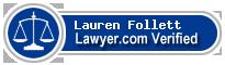 Lauren Follett  Lawyer Badge