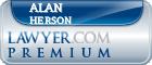 Alan Herson  Lawyer Badge