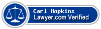 Carl Warner Hopkins  Lawyer Badge