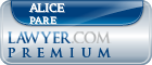 Alice Pare  Lawyer Badge