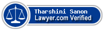 Tharshini N. Sanon  Lawyer Badge