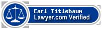 Earl Titlebaum  Lawyer Badge