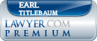 Earl Titlebaum  Lawyer Badge