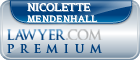 Nicolette Mendenhall  Lawyer Badge