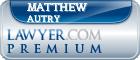 Matthew C. Autry  Lawyer Badge