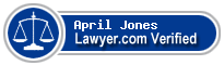 April D. Jones  Lawyer Badge