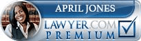 April Jones  Lawyer Badge