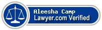 Aleesha Jane Camp  Lawyer Badge