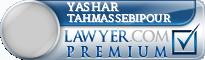 Yashar Tahmassebipour  Lawyer Badge