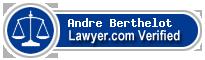 Andre Louis Joseph Berthelot  Lawyer Badge