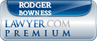 Rodger Benn Bowness  Lawyer Badge