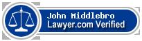 John David Middlebro  Lawyer Badge