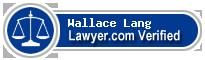 Wallace Byron Lang  Lawyer Badge