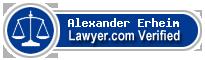 Alexander Adan Erheim  Lawyer Badge
