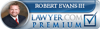 Robert Bartholomew Evans III  Lawyer Badge