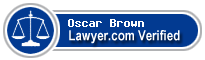 Oscar H. Brown  Lawyer Badge